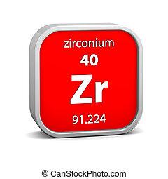 matériel, zirconium, signe