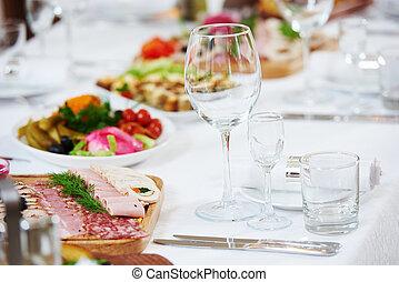 mat, bord, restaurang