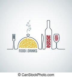 mat, dricka, bakgrund
