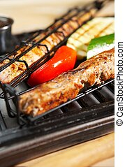 mat, grill, -, barbecue