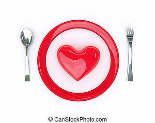 mat, kärlek