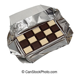 mat,  -, Kollektion, choklad, svart, vit