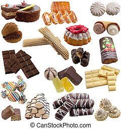 mat, kollektion, confectionery.