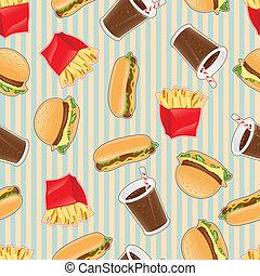 mat, mönster, fasta, seamless, bakgrund
