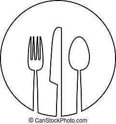 mat, meny, abstrakt, bakgrund