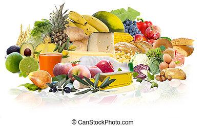 mat, omväxlande, kost