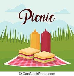 mat, picknicken, design