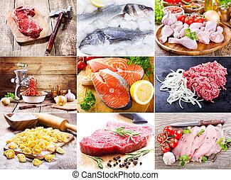 mat, rå, olika
