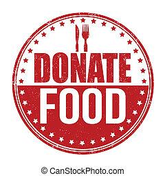 mat stämpla, donera