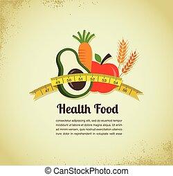 mat, vektor, hälsa, bakgrund