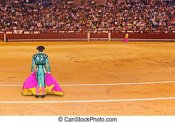 matador, en, toreo, arena, en, madrid