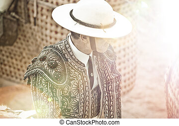 Matador in bullring, spain, Madrid