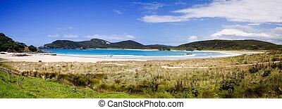 Matai Bay Panorama 1, Northland, New Zealand - A beautiful ...
