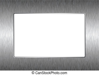 matal silver picture frame - Modern abstract silver metal...