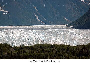 Matanuska Glacier - View of Matanuska Glacier as it exits a...