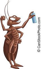 matanza, cucaracha, mosca