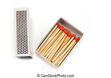 match and box isolated