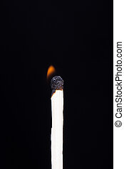 Match Burning in Low Energy - Single match burning in low...