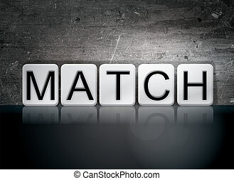 Match Concept Tiled Word