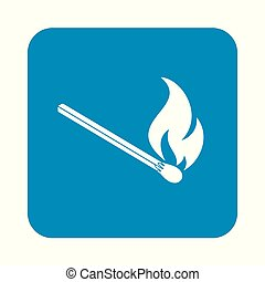 Match fire icon vector