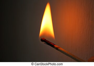 Match flame - A close-up photo of Match flame