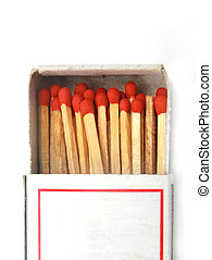 match in a box isolated