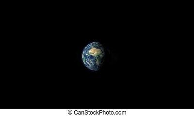 Match Lights Earth On Fire - As earth rotates a match lights...