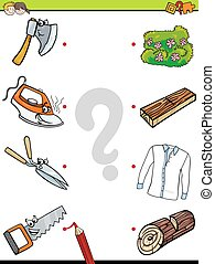 match objects educational activity game