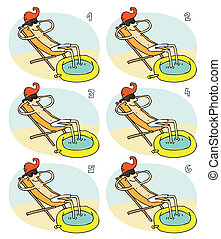 Match Pairs Visual Game: Small Pool. Task: find two...
