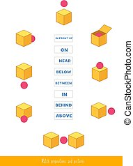 Match prepositions with pictures