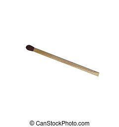 A match stick isolated on white with clipping path.