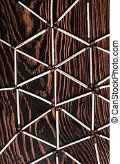 Match sticks with brown heads - background of match sticks...