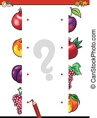 match the fruit halves activity