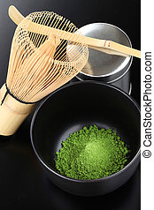 matcha, powdered green tea
