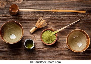 Set for making matcha tea