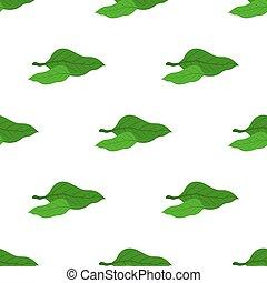Matcha tea leaves seamless pattern. Japaneese drink, natural organic plant