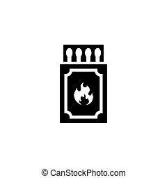 Matchbox and Matches Flat Vector Icon