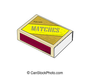 Matchbox.  - Colorful matchbox - vector illustration.