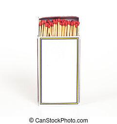 Matchbox isolate on background