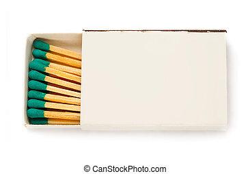 Matchbox isolated on the white background