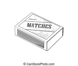Matchbox.  - Matchbox - vector illustration.