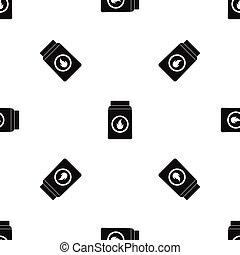 Matchbox pattern seamless black