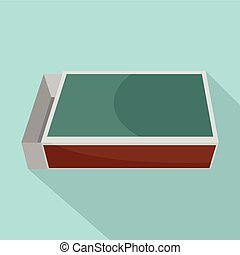 Matches box icon, flat style