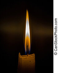 Matches burning to light a candle