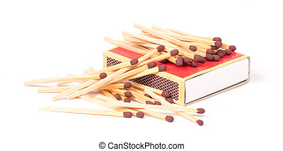 Matches, isolated on a white background