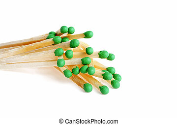 Matches isolated on a white background