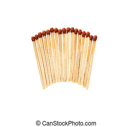 Matches isolated on white background with clipping path.