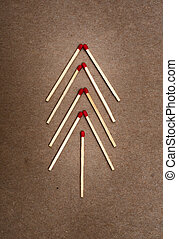 matches on a brown background