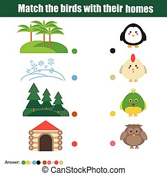 Matching children education game