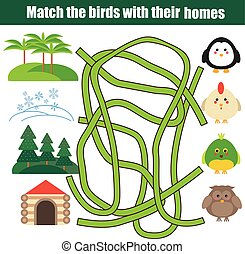 Matching children educational game